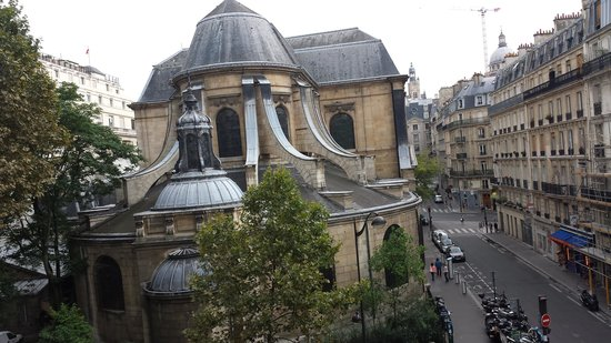 Hotel Abbatial Saint Germain: View from our room