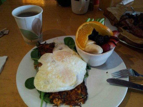 The Big Bean Cafe and Bakery: My breakfast.