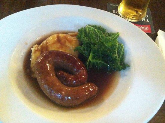The Royal Oak at Keswick: Cumberland Sausage with mash
