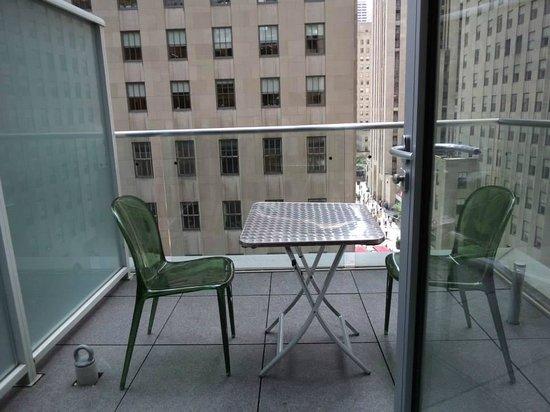 The Jewel facing Rockefeller Center: Patio