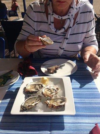 Xiringuito Copacabana: fresh oysters