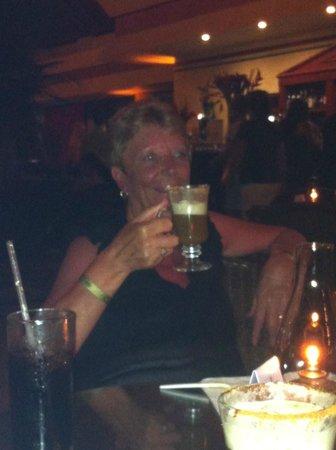 Luxury Bahia Principe Sian Ka'an: Mum and her irish coffee