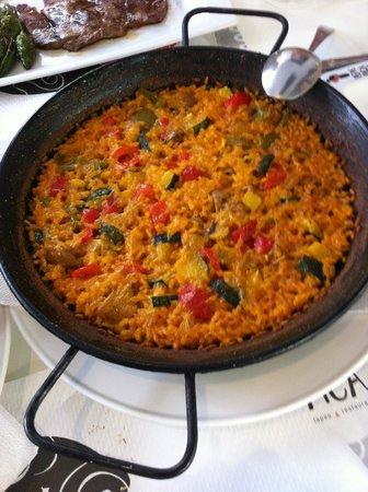 Pepe Pica: Paella individual de verduras.