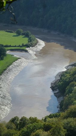 Wye Valley and Forest of Dean: looking below us to river Wye