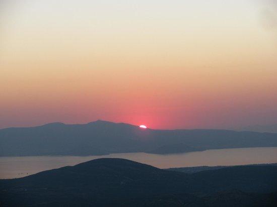 Scala Apartments and Studios : Sun set in  Scala Apartments, Kastraki, Naxos