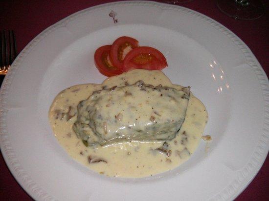 Casa Estampa: Flan de espinacas con salsa de setas