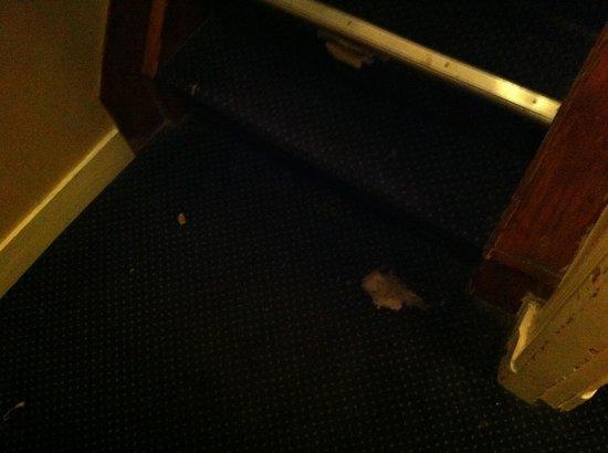 Sara's Boutique Hotel: Partie en fumée la moquette.