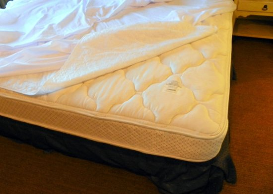 Homewood Suites by Hilton St. Petersburg Clearwater: Our Serta Pillow top mattress check.