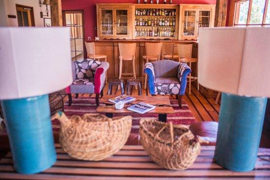 Yelcho en la Patagonia: Sitting area next to the bar.