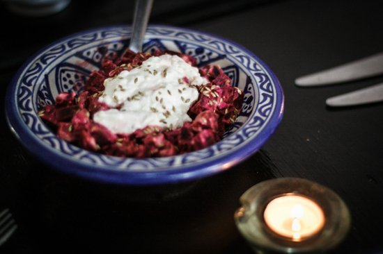 Dar Iman: cooking class with Bea and Daniel beetroot salad