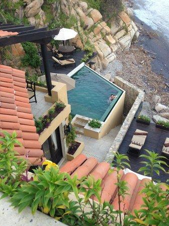 Villa Escondida: Terraza alta