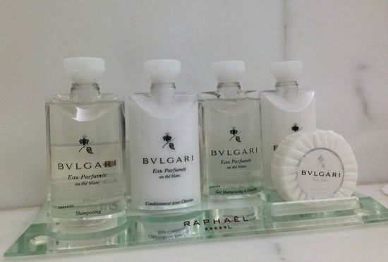 Hotel Raphael: Bulgari toiletries