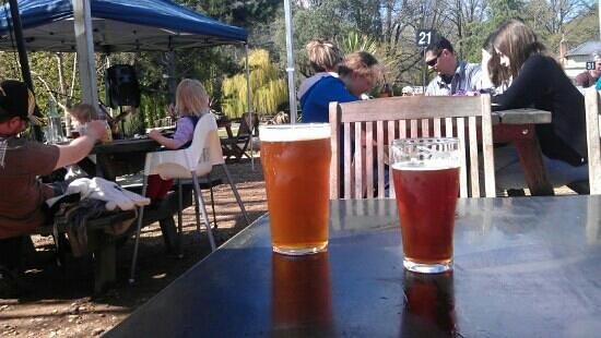 Bright Brewery: Fantastic beers, beer garden, sunshine, music.