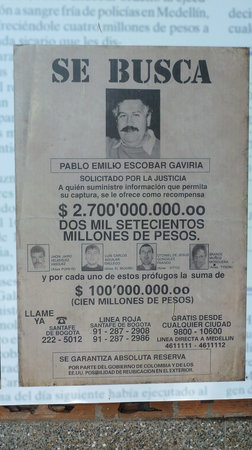 Puerto Triunfo, Colombia: Steckbrief Pablo Escobar