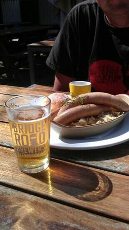 Bridge Road Brewers: life is perfect. beer, sausages, sunshine