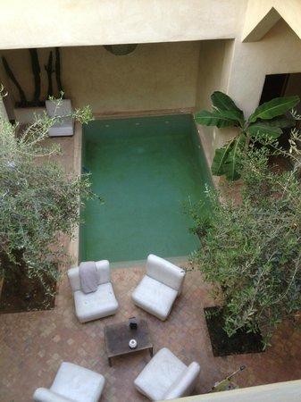 Riad Vendome & Spa Marrakech: Vue de la chambre sur le patio