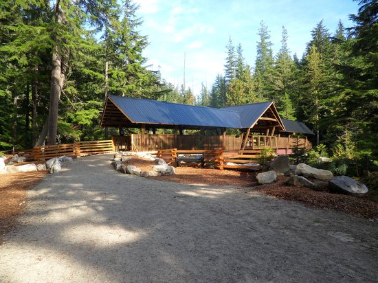 Huckleberry Inn: New bridge at Nakusp Hot springs.