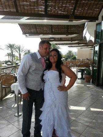 Constantinou Bros Athena Beach Hotel: Our wedding day