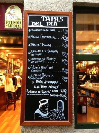 Gran Hotel Los Abetos: Lista Tapas