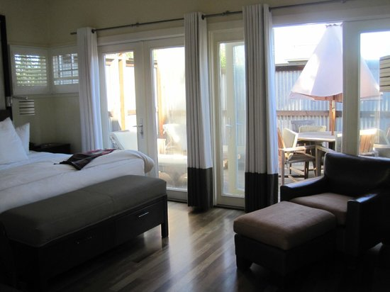 The Carneros Inn: Room and back deck