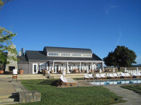 Carneros Resort and Spa: Hilltop Dining / pool