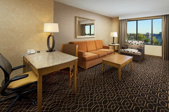 Doubletree Suites by Hilton Hotel Anaheim Resort - Convention  Center: Living room - Queen Queen Suite