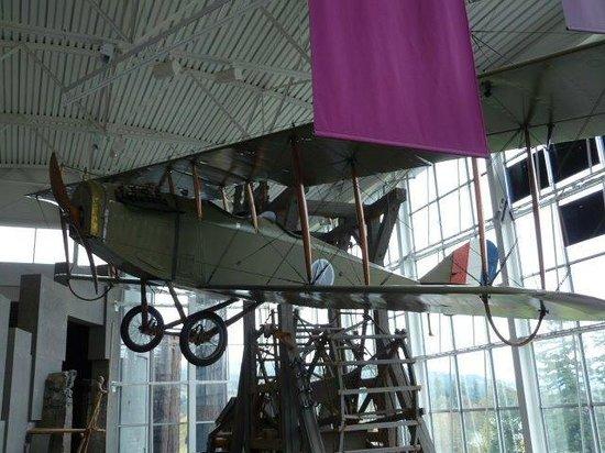 "Columbia Gorge Interpretive Center: 1917 Curtiss JN-4 ""Jinny"" biplane"