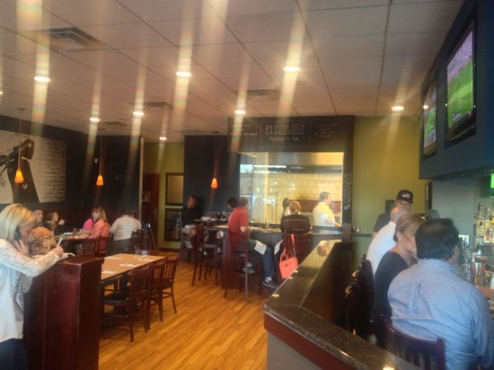 Pizzology: Inside from front door