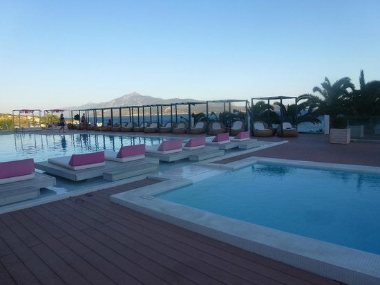 Proteas Blu Resort: view overlooking pools with ocean in background