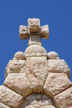 Santuario de Santa Magdalena: Detail of the architecture