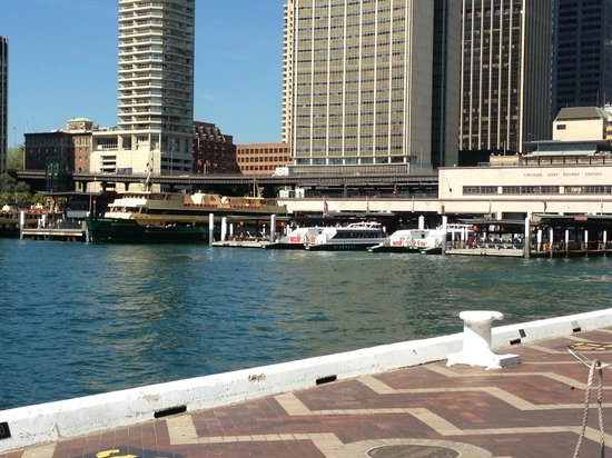 Looking towards the dock at Circular Quay- The Rocks Sydney