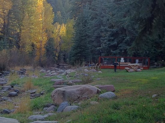 O-Bar-O Cabins: October evening at O-Bar-O.