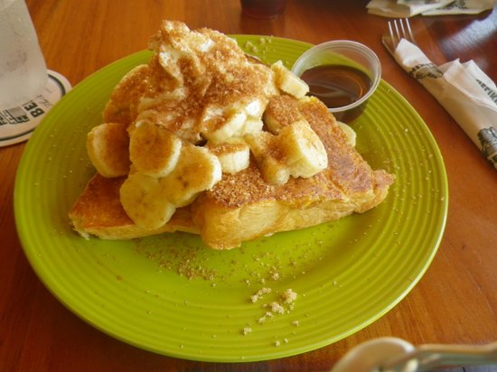 Friends Near the Pier : Brown Sugar & Banana French Toast..MMM, still dream about it