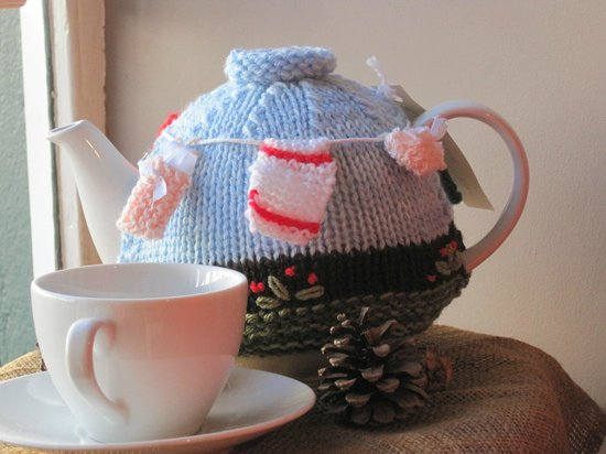 Broughton Village Bakery & Cafe: Cute teacosy on sale in the cafe