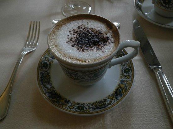 Villa Zuccari: Cappuccino served in a beautiful setting