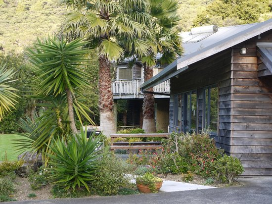 Bay of Islands Holiday Apartments and Campervan Park Ltd: View to 3 Bed Apartment, Lawn and Family Apartments