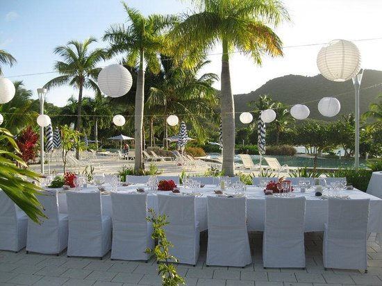 Hotel Riu Palace St Martin : Pool Terrace Wedding Reception
