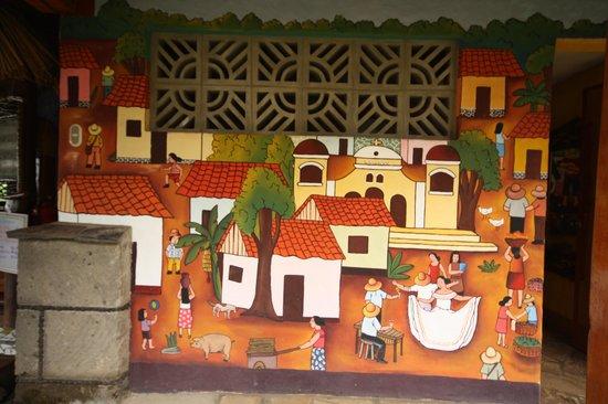 Hacienda Puerta Del Cielo Eco Spa: Art Work on the wall