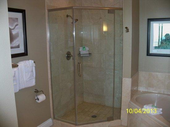 Emerald Grande at HarborWalk Village: 2nd bathroom shower