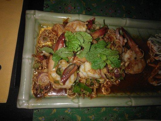 Krua Bophut : prawn salad