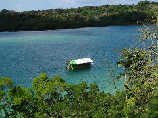 The Hub Vanuatu: Barge on the Lagoon