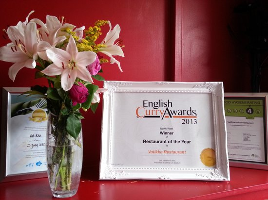 Vatika: the award winning restaurant.
