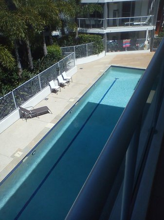 Coolum at the Beach: View of Lap Pool from room balcony