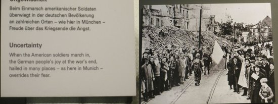 German National Museum of Contemporary History : Americans march into Munich at end of war in 1945