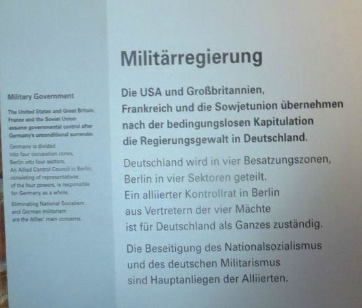 German National Museum of Contemporary History: Interpretive signs in English and German