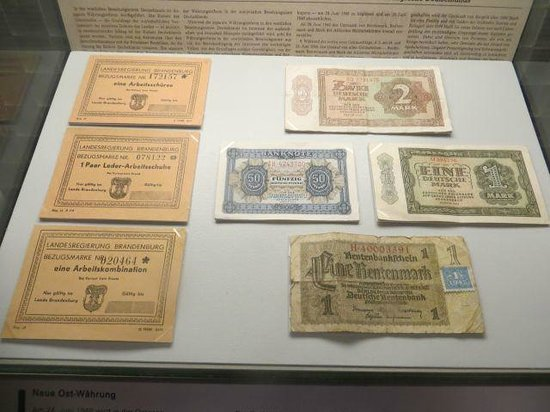 German National Museum of Contemporary History : Historical German Currency
