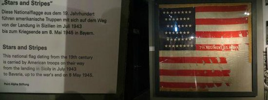 German National Museum of Contemporary History : Stars and Stripes - 19th Century Flag carried throughout WWII by US Troops
