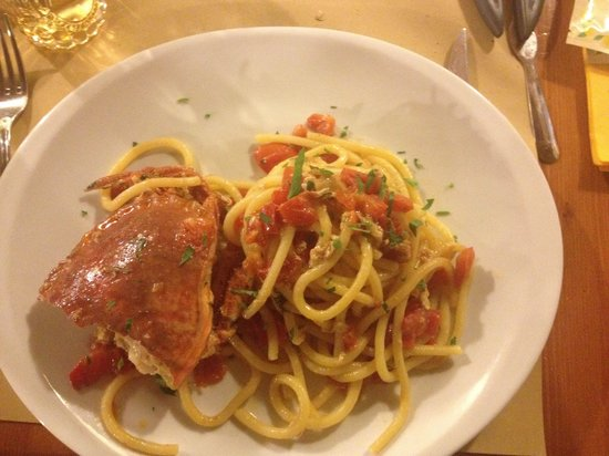 Al Vecchio Lotto: Spaghetti al granchio
