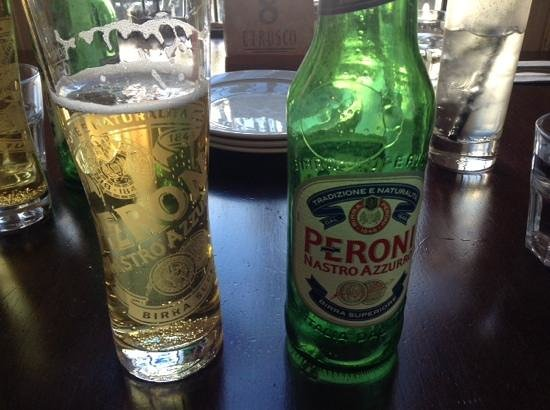 Etrusco at the Savoy: Peroni Recommended