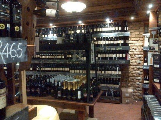 Butcher Block Steakhouse Wine Cellar At The Restaurant